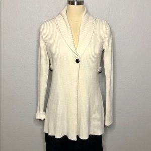 Take Out XL Cream Ribbed Long Sweater